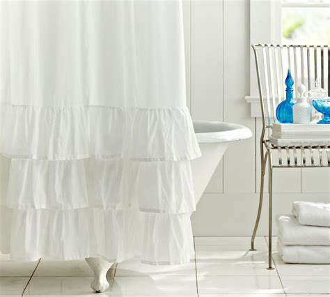 white ruffle shower curtain top 20 shower curtains decoholic
