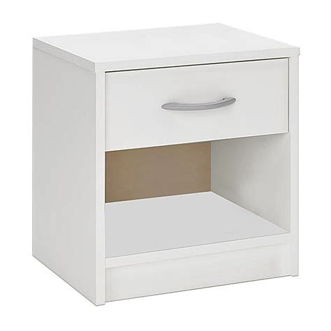 bedside shelf bedside table cabinet white 1 drawer bed side chest