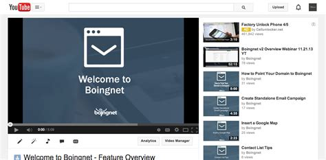 embed a video into a landing page boingnet