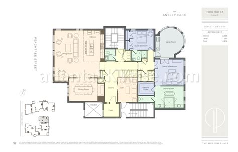 the ansley floor plan one museum place launches with over 30 000 000 under