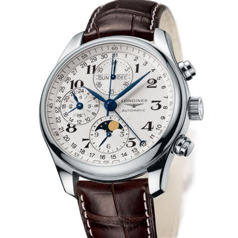 wedding watches longines master collection moonphase and chronograph