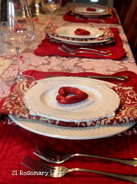 valentines day table setting extraordinary valentines table settings for a