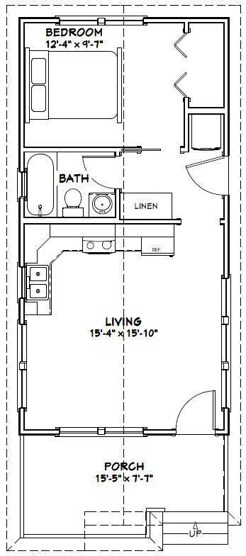 tiny house  sq ft  floor plan model