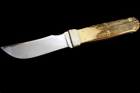 antique kabar stag exchange blade hatchet knife