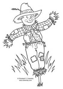 scarecrow coloring page coloring pages scarecrow craft coloring pages