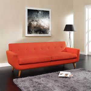 Modern Orange Sofa Modern Pablo Sofa Orange