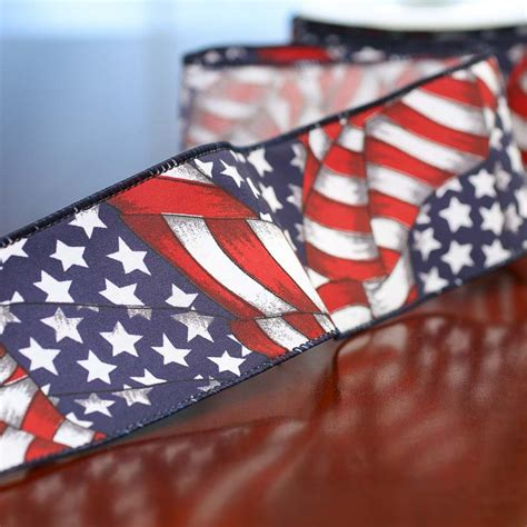 American Flag Decorations by American Flag Ribbon Americana Decor Home Decor