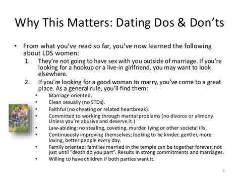 8 Dos On Dates by Dating An Lds What You Need To In 9 Slides