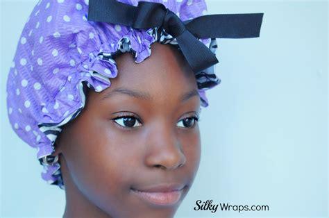 bonnet hairstyle kids sleep bonnet purple polka dot 183 silkywraps 183 online
