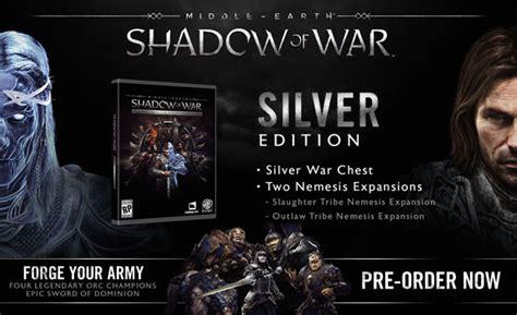 Middle Earth Shadow Of War Silver Edition Reg 3 Ps4 middle earth shadow of war silver edition mesow mmoga