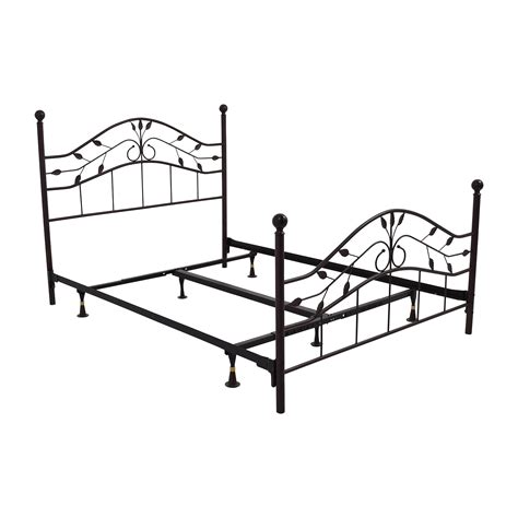 Metal Bed Frame Designs 67 Metal Size Leaf Design Bed Frame Beds