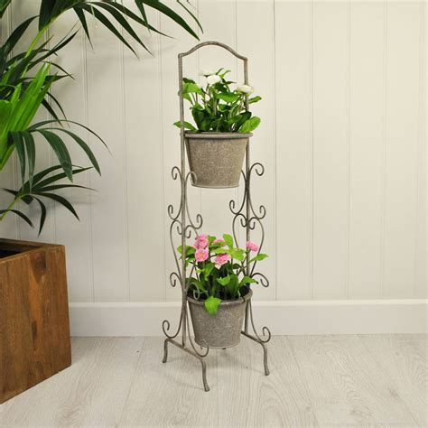 Tier Planter by Loire Two Tier Pot Planter By Garden Selections