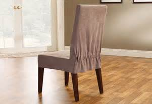 Suede Dining Chair Covers Sure Fit Soft Suede Dining Chair Cover