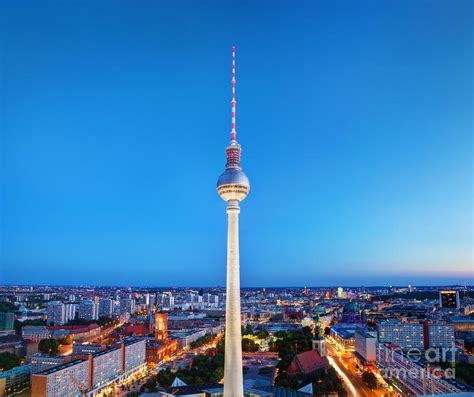 Home Decor Germany by Tv Tower Or Fersehturm In Berlin Photograph By Michal Bednarek
