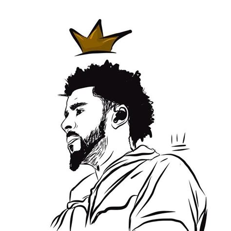 J Cole Drawing Easy by J Cole Fans Forever Welovejcolenc