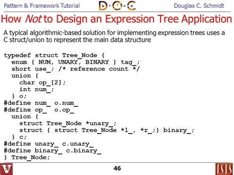 visitor pattern expression tree object oriented patterns frameworks ppt download