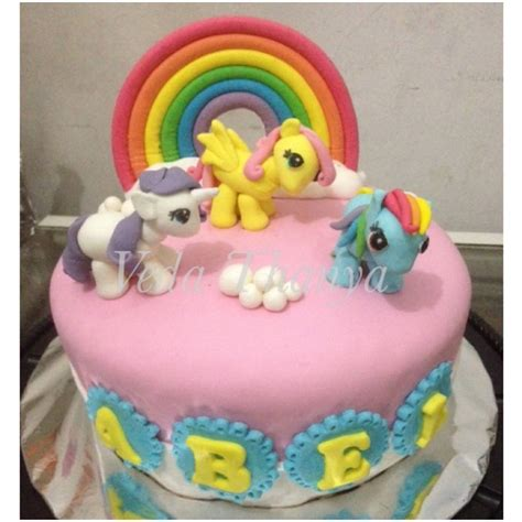 Kue Ulang Tahun Ponylittle Pony Cakekue Kuda Poni jual mainan my pony friendship is magic mainan toys