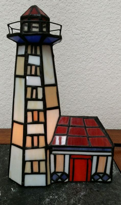 stained glass in home decor accents letters from eurolux vintage lighthouse l shop collectibles online daily