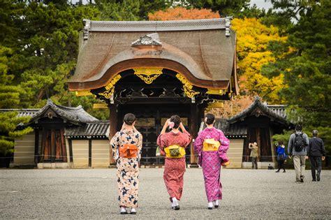 Kyoto Photo: Kyoto Gosho (Imperial Palace) With Kimono