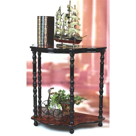Espresso Entryway Table Uniquewise 2 Tier Entryway Console Table With Espresso Marble Finish Qi003227 The Home Depot