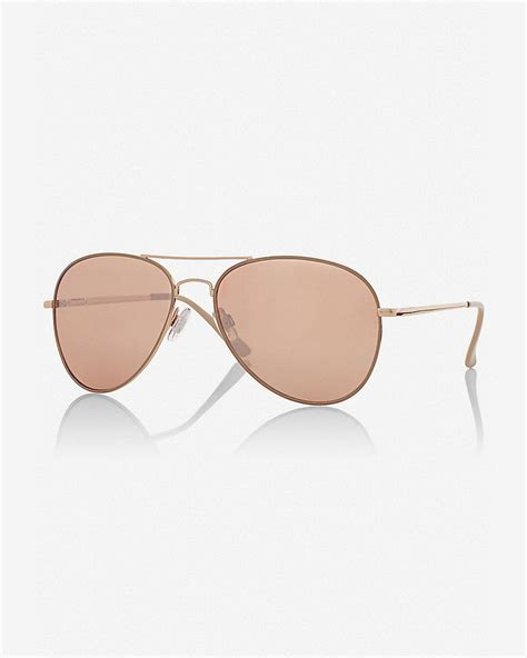 Mirrored Lens Aviator Sunglasses express mirrored gold lens aviator sunglasses in pink