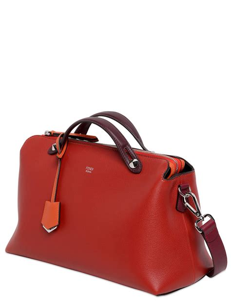 Fendi By The Way Satchel Hardware Silver Like Ori Leather 10121p 5 fendi large by the way leather bag in lyst