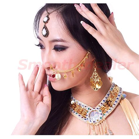 Coin Chain Anting India Fashion Import indian belly fashion jewelry bridal wedding clip on