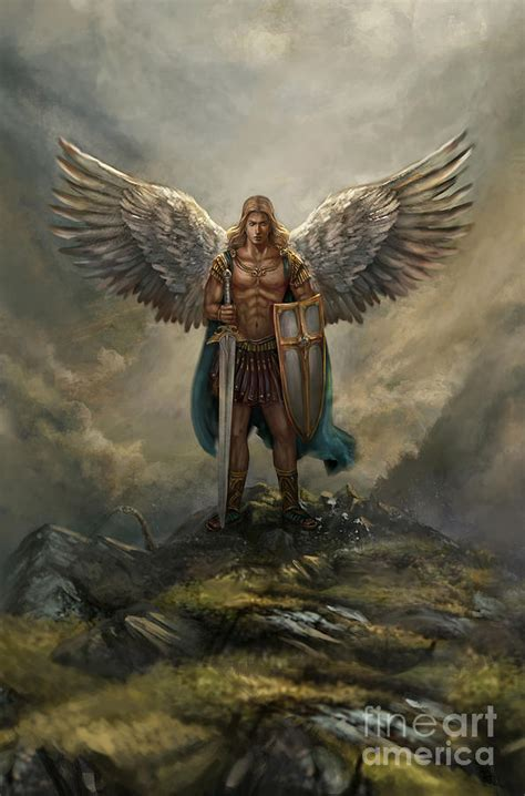 Archangel Michael archangel michael digital by robert greco