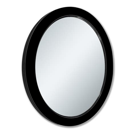 black oval bathroom mirror shop allen roth black beveled oval wall mirror at lowes com