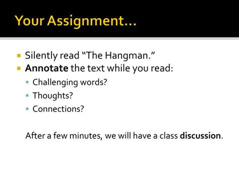 Ppt The Hangman Powerpoint Presentation Id 5499005 Hangman Powerpoint