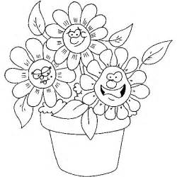 Galerry spring flower coloring pages