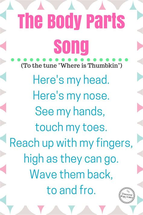song for my best 25 parts preschool ideas on