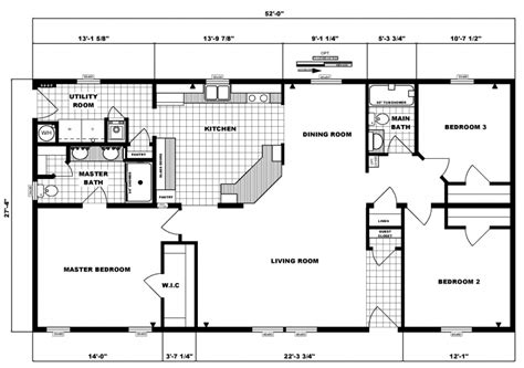 3 bedroom ranch floor plans 3 bedroom 2 bath ranch floor plans