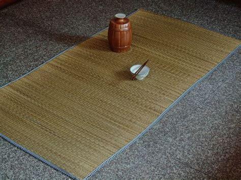 Raffia Floor Mats by Vintage Woven Straw Rag Rug Straw Made Floor Mat