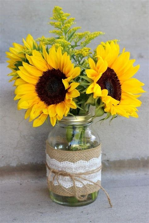 sunflower arrangements ideas 18 cheerful sunflower wedding centerpiece ideas page 2