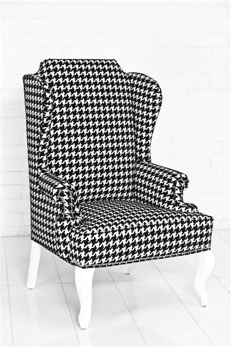 Houndstooth Chair by Www Roomservicestore Brixton Wingchair Black White