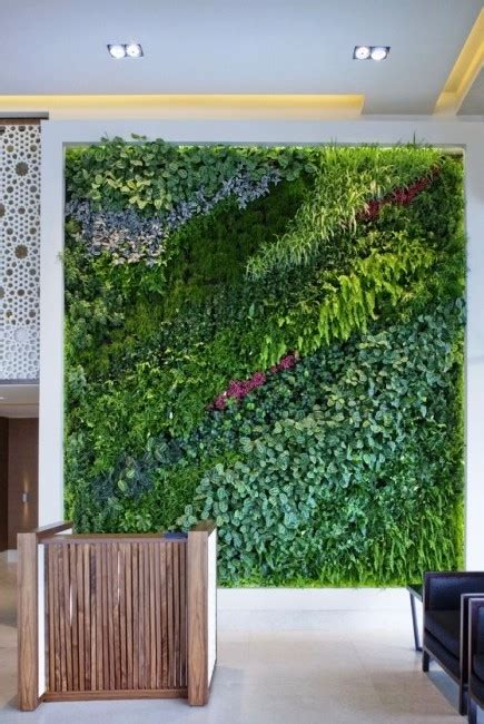 gorgeous indoor living wall planter design ideas