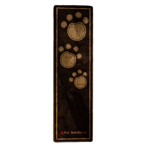 Muddy Paws Mat by Pet Rebellion Stop Muddy Paws Door Mat Runner Brown