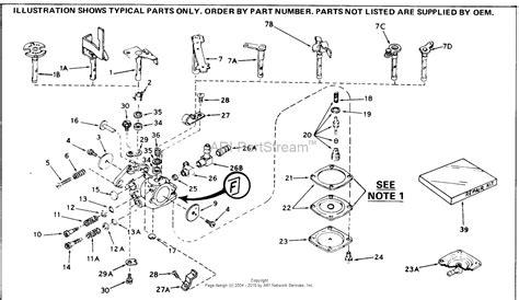 tecumseh engine carburetor diagram tecumseh ca 631501 parts diagram for carburetor