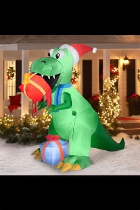 lighted dinosaur christmas decoration t rex dinosaur stuff inflatables