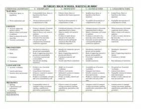 Essay Grading Rubric High School by Essay Rubric High School Source