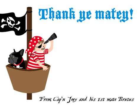 free printable pirate thank you card template pirate birthday bsquaredesigns