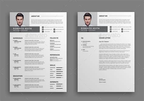 Sample Resume Format For Job by Modern Resume Templates 46 Free Psd Word Pdf Document