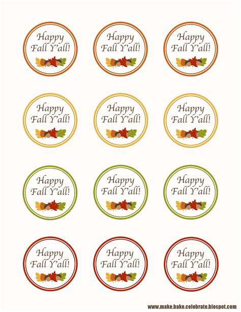 printable labels for your fall food gifts by lia griffith 8 best images of free fall printable tags free fall