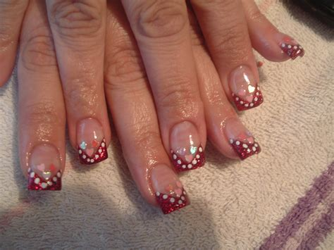valentines acrylic nail designs s day hearts nail design nail design from