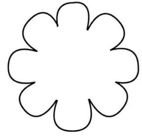 daisy flower petal template clipart best