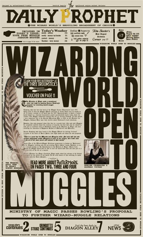 newspaper poster template daily prophet pottermore by nathanthenerd on deviantart