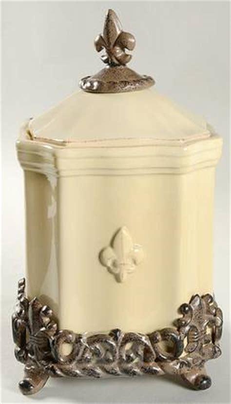 artimino quot fleur de lis quot cream canisters dillards com artimino fleur de lis cream at replacements ltd