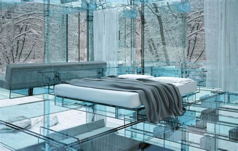 glass bed 25 cool bedroom designs to dream about at night