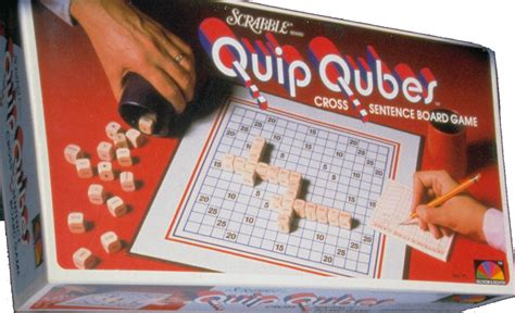 is quip a scrabble word sentence cube